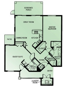 Castle Pines 2 Br Floorplan